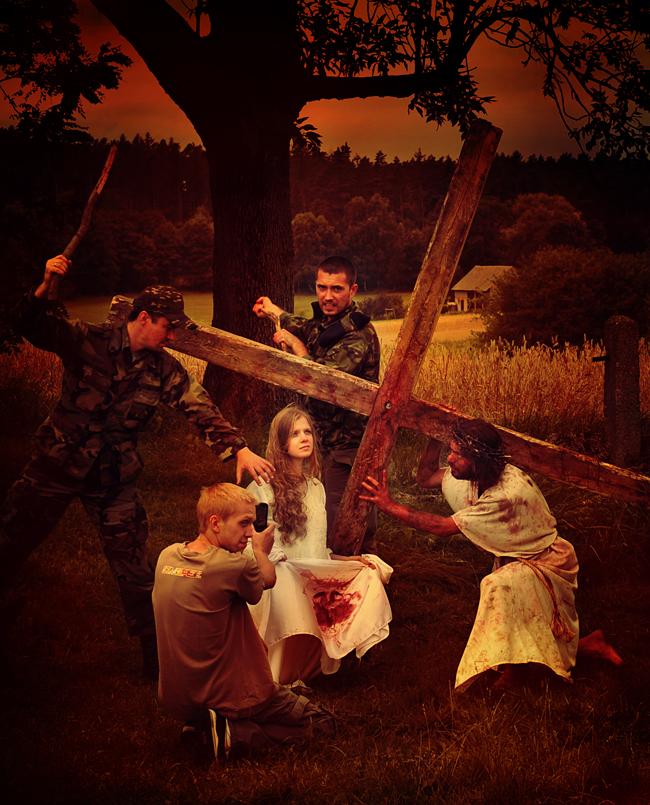 Stacja VI - Weronika ociera twarz Jezusa