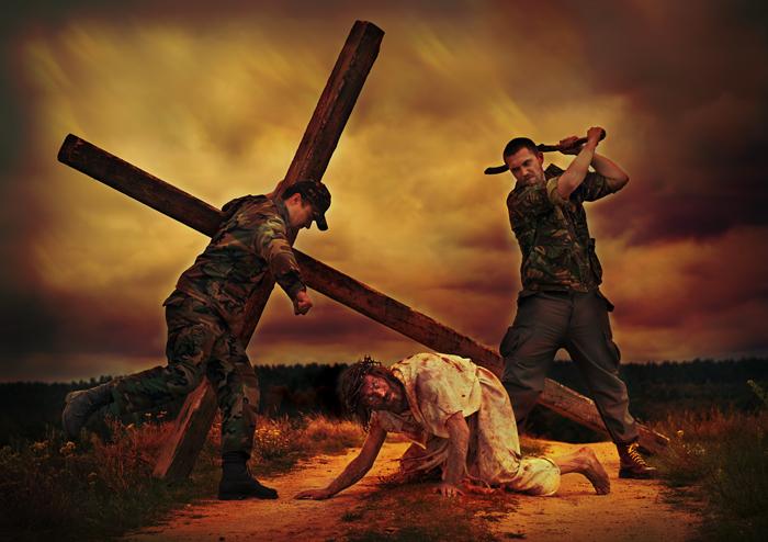 Stacja IX - Jezus upada po raz trzeci