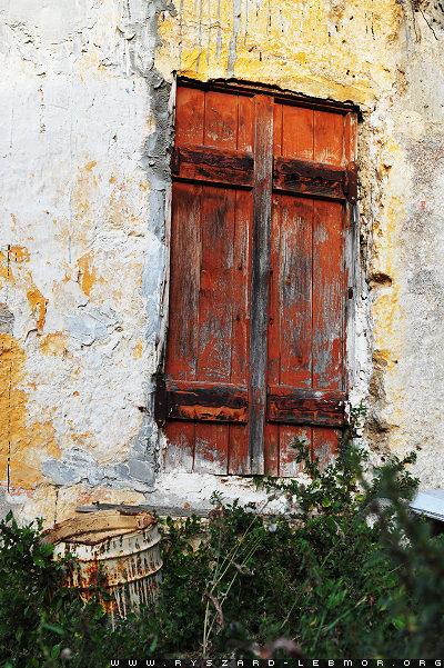 Okno, zdjęcie z Grecji