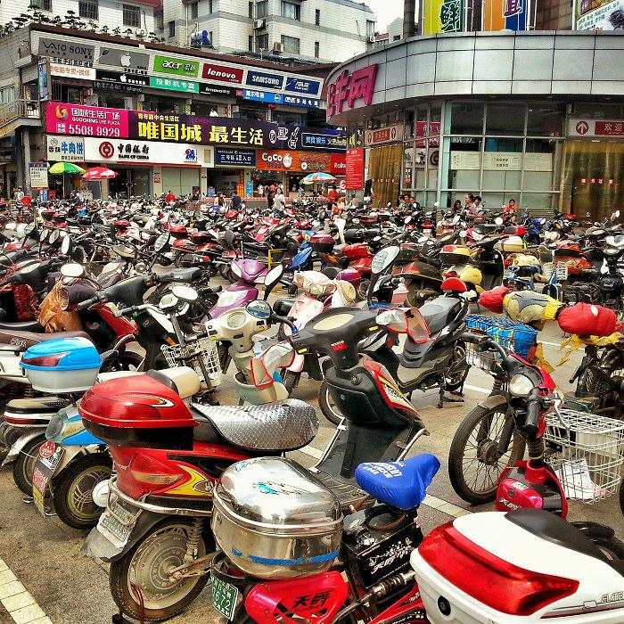 Skutery w Chinach