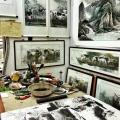 Warsztat chińskiego malarza