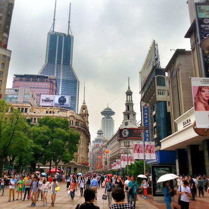 Ulica Nankińska w Szanghaju