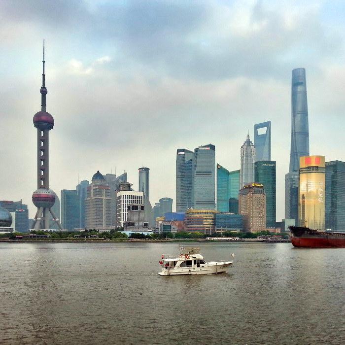 Panorama dzielnicy Pudong