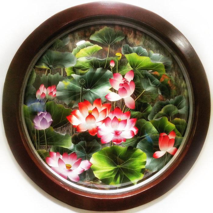 Obraz wyszywany jedwabiem