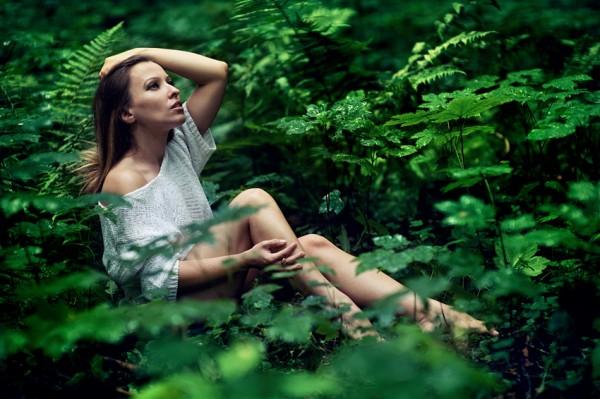 W deszczu i w lesie...